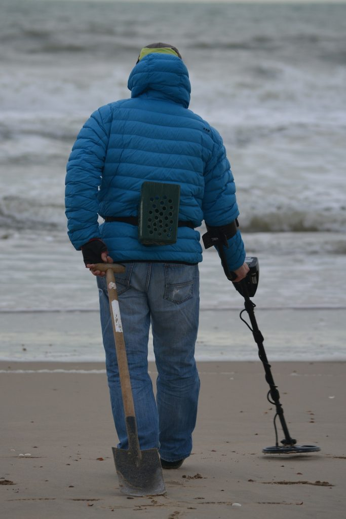 Using a Metal Detector on the Beach