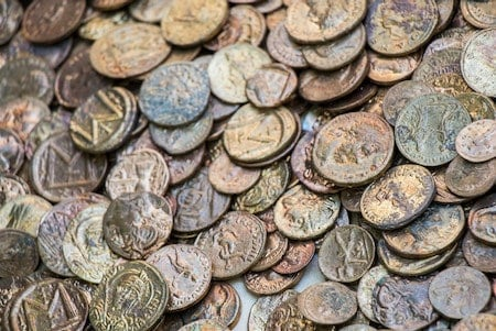 Find ancient coins, and modern coins, with your metal detector